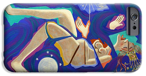 Mother Mary Digital Art iPhone Cases - Revelation Chapter 12-1 iPhone Case by Anthony Falbo