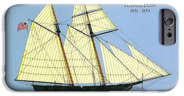 Tall Ship iPhone Cases - Revenue Cutter Alexander Hamilton iPhone Case by Jerry McElroy - Public Domain Image