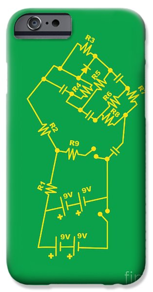 Electricity iPhone Cases - Revolt iPhone Case by Budi Kwan
