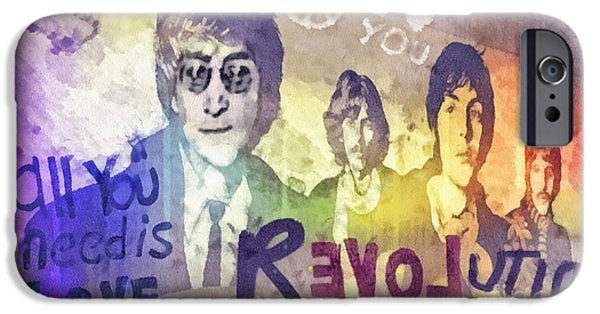 Icon Mixed Media iPhone Cases - Revolution iPhone Case by Mo T