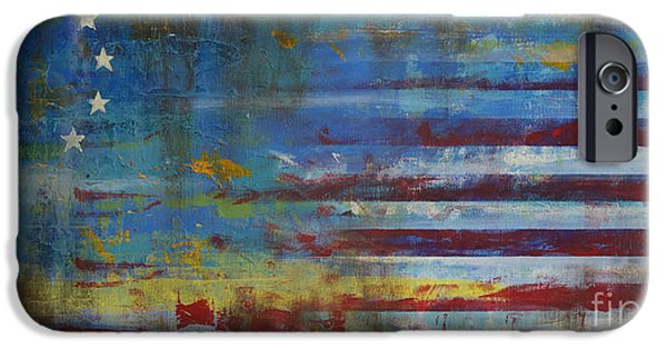 Flag Paintings iPhone Cases - Revolutionary iPhone Case by Sean Hagan
