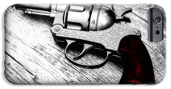 Drama iPhone Cases - Revolver iPhone Case by Wim Lanclus