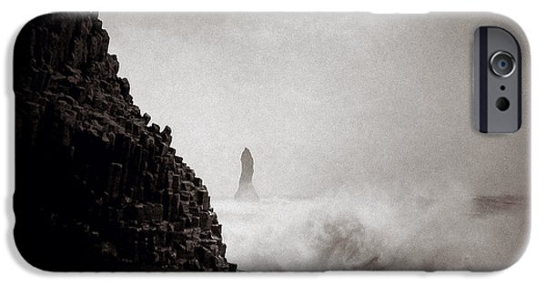 Turbulent iPhone Cases - Reynisdrangar iPhone Case by Dave Bowman