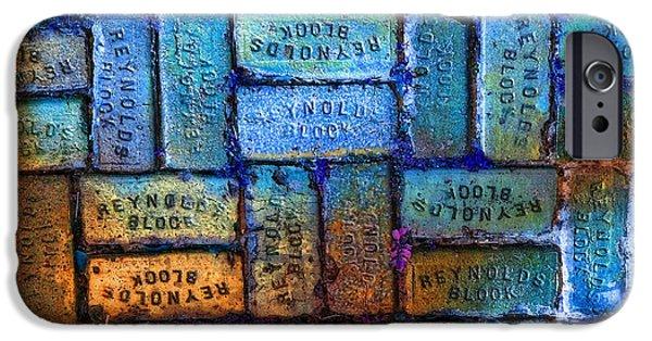 Block iPhone Cases - Reynolds Blocks - Vintage Art By Sharon Cummings iPhone Case by Sharon Cummings