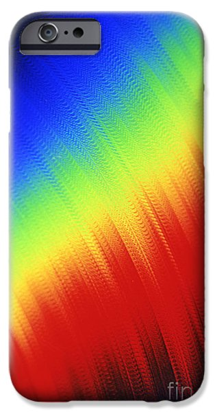 Business iPhone Cases - RGB Abstract iPhone Case by Tony Cordoza