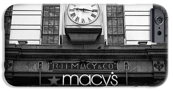 Macy iPhone Cases - R.H. Macy and Co. mono iPhone Case by John Rizzuto