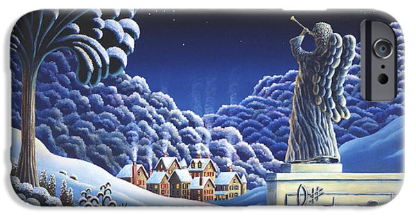 Village iPhone Cases - Rhapsody In Blue iPhone Case by Andy Russell