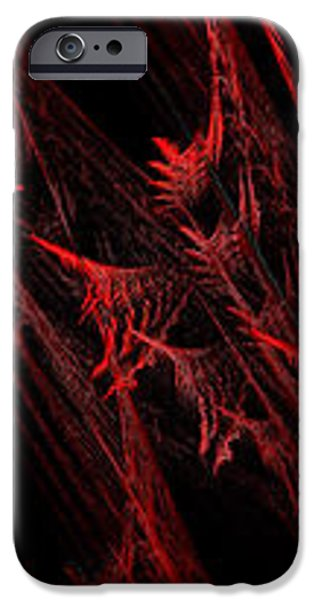 Rhapsody In Red H - Panorama - Abstract - Fractal Art iPhone Case by Andee Design