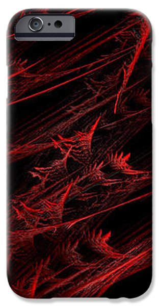Abstract Digital Mixed Media iPhone Cases - Rhapsody In Red V - Panorama - Abstract - Fractal Art iPhone Case by Andee Design