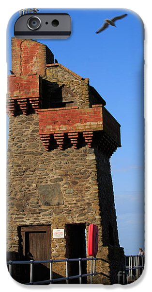 Nineteenth iPhone Cases - Rhenish Tower on Lynmouth pier Devon iPhone Case by Louise Heusinkveld