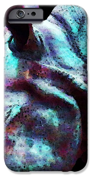 Rhino 1 - Rhinoceros Art Prints iPhone Case by Sharon Cummings