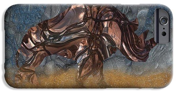 Painter Photo Digital Art iPhone Cases - Rhino 4 iPhone Case by Jack Zulli