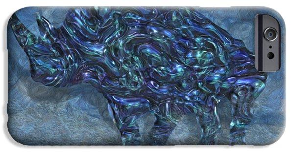 Painter Photo Digital Art iPhone Cases - Rhino 6 iPhone Case by Jack Zulli