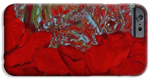 One Horned Rhino Paintings iPhone Cases - Rhinos Grow iPhone Case by Sarah Soward
