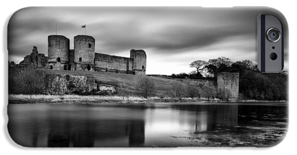 Drama iPhone Cases - Rhuddlan Castle iPhone Case by Dave Bowman