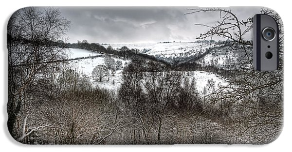 United iPhone Cases - Rhymney Valley Winter 5 iPhone Case by Steve Purnell