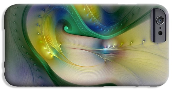 Abstract Expressionism Digital iPhone Cases - Rhythm of Life-Abstract Fractal Art iPhone Case by Karin Kuhlmann