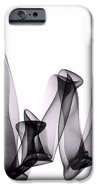Nature Abstract iPhone Cases - Rhybn iPhone Case by Susan Maxwell Schmidt