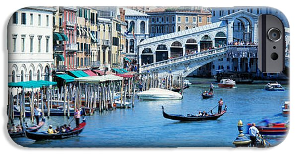 Balcony iPhone Cases - Rialto Bridge & Grand Canal Venice Italy iPhone Case by Panoramic Images