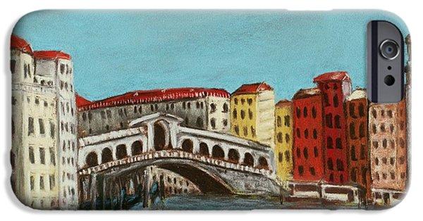 Boat iPhone Cases - Rialto Bridge iPhone Case by Anastasiya Malakhova