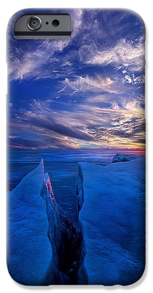 Outdoors iPhone Cases - Ribband of Blue iPhone Case by Phil Koch