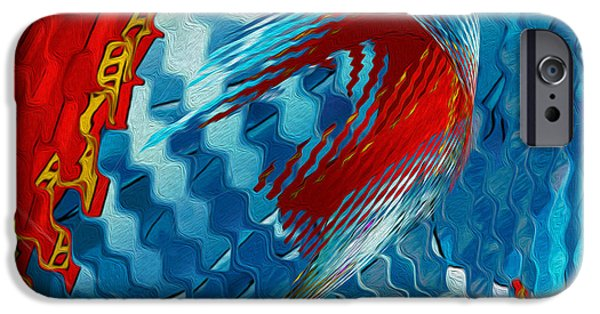 Abstract Forms iPhone Cases - Ribbons Journey iPhone Case by Jack Zulli