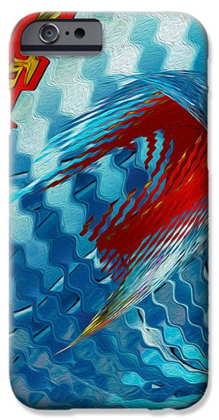 Ribbons Journey iPhone Case by Jack Zulli