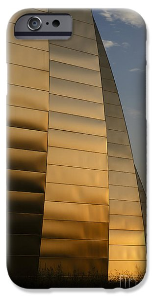 Symphony Hall iPhone Cases - Ribbons of Gold iPhone Case by Dennis Hedberg