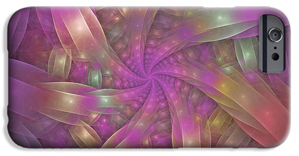Fractal iPhone Cases - Ribbons iPhone Case by Sandy Keeton