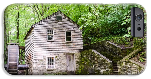 Tennessee Historic Site iPhone Cases - Rice Grist Mill Norris Dam State Park Tennessee iPhone Case by Cynthia Woods