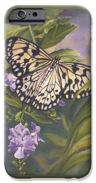 Rice Paper Butterfly iPhone Case by Lucie Bilodeau