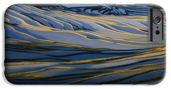 Chinese Peasant iPhone Cases - Rice Terraces Of Yuanyang 1 iPhone Case by Lanjee Chee