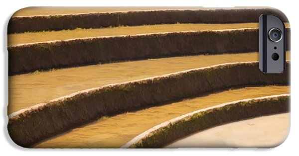 Chinese Peasant iPhone Cases - Rice terraces of yuanyang 3 iPhone Case by Lanjee Chee