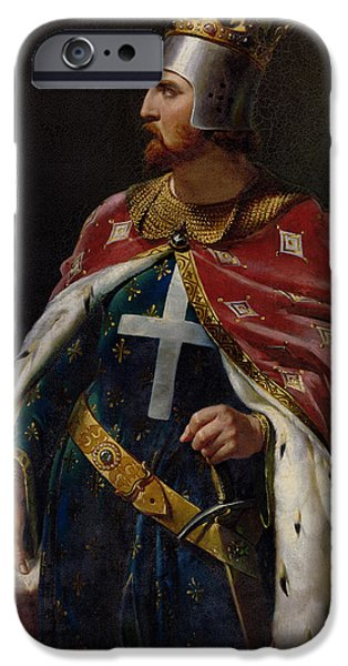 Richard iPhone Cases - Richard I the Lionheart iPhone Case by Merry Joseph Blondel