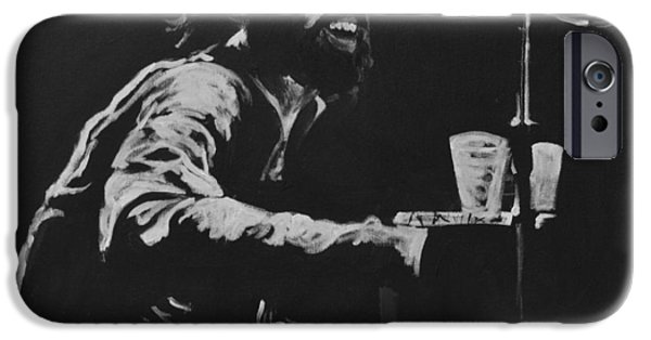 Keyboard Paintings iPhone Cases - Richard Manuel iPhone Case by Melissa O