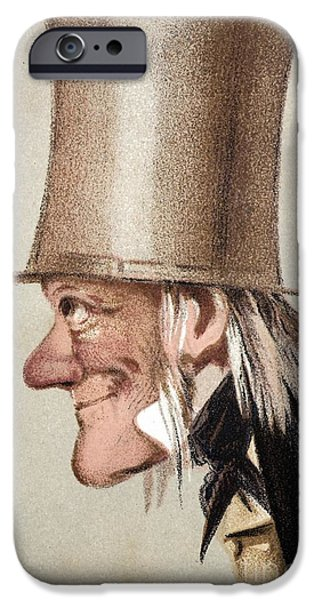 Moa iPhone Cases - Richard Owen Caricatured In Vanity Fair iPhone Case by Paul D. Stewart
