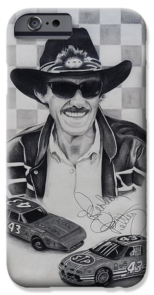 Stp iPhone Cases - Richard Petty iPhone Case by Billy Burdette