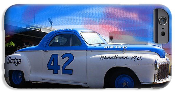 Automotive Pyrography iPhone Cases - Richard Petty nascar iPhone Case by Doug Walker