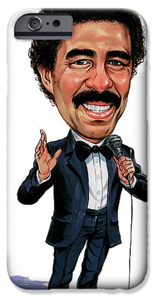 Comedian iPhone Cases - Richard Pryor iPhone Case by Art