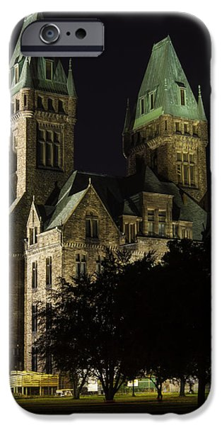 Psychiatric iPhone Cases - Richardson Olmsted Complex From The Lawn iPhone Case by Don Nieman