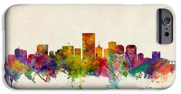 States iPhone Cases - Richmond Virginia Skyline iPhone Case by Michael Tompsett