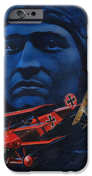 Sopwith Triplane iPhone Cases - Richthofen and Brown iPhone Case by Richard De Wolfe