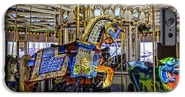 Carousel iPhone Cases - Ride a painted pony - Coney Island 2013 - Brooklyn - New York iPhone Case by Madeline Ellis