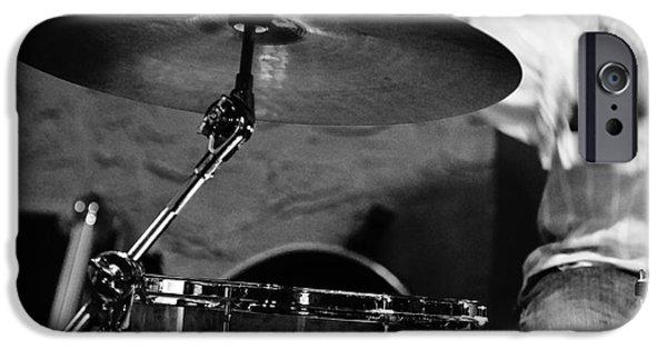 Lynda Dawson-youngclaus Photographer iPhone Cases - Ride Cymbal iPhone Case by Lynda Dawson-Youngclaus