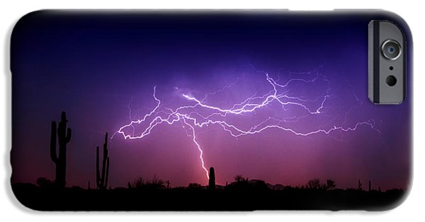 Natural Forces iPhone Cases - Ride The Lightning  iPhone Case by Saija  Lehtonen