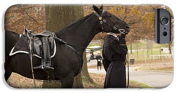 Burying Ground iPhone Cases - Riderless Horse iPhone Case by Terry Rowe