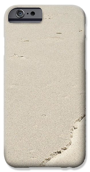 Ridge in the Sand at Big Sur iPhone Case by Artist and Photographer Laura Wrede