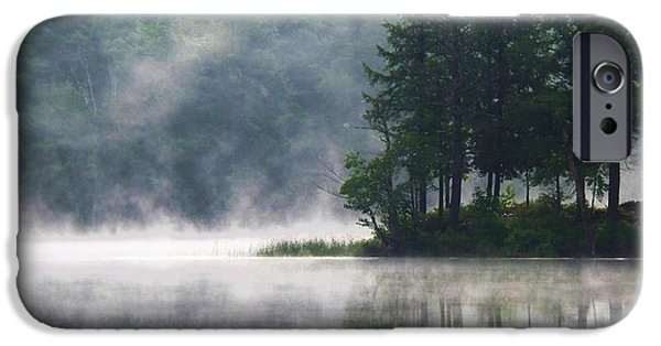 Maine iPhone Cases - Ridge Road Morning Mist iPhone Case by Joy Nichols