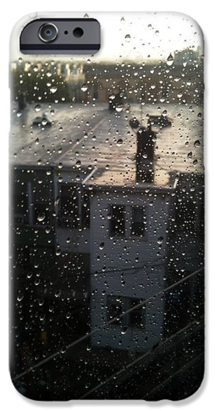 Ridgewood iPhone Cases - Ridgewood houses wet with rain iPhone Case by Mieczyslaw Rudek Mietko