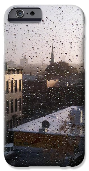 Ridgewood iPhone Cases - Ridgewood wet with rain iPhone Case by Mieczyslaw Rudek Mietko